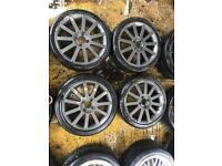 "17"" GENUINE FORD FIESTA ST ALLOY WHEELS SET OF 4 j"