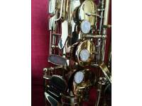 Alto saxophone with reeds