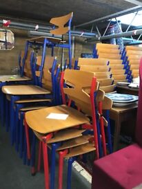 Vintage stacking cafe chairs
