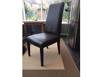 Lee longlands brown leather dining chair in croc