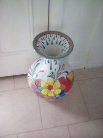 Vase Large Vase with Floral Design made in Portugal