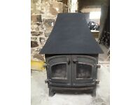 Villager stove gas fire with back boiler