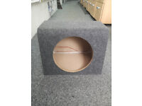 "12"" Empty Sub Subwoofer Enclosure MDF Grey Carpted Boom Box Brand new"