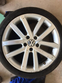 """VW Vancouver 18"""" alloys (genuine VW) with Continental tyres"""