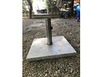 Granite garden umbrella base