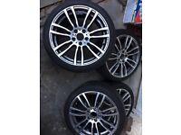 "18"" BMW M-sport style Alloy Wheels & 225/40/18 255/40/18 Tyres"