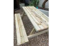 A frame pub/beer garden table