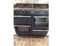 8 Ring Gas Range Cooker + Electric ovens