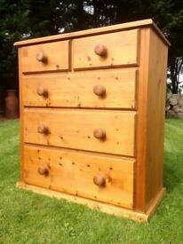 Large Solid Pine Chest of Drawers.. Possible Delivery Available