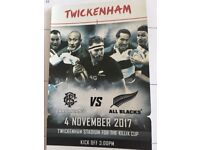 2x All blacks vs barbarians tickets 4th November twickernham stadium