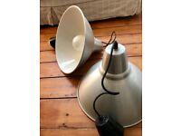 2x XL Ikea Steel/ Aluminium Pendant Lights Lamp Shades Adjustable