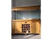 Aqua oak 160cm wine rack aquarium and cabinet