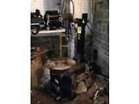 Tyre changing machine wheel changer ECO36 fully working space needed