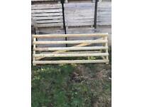 Rustic fence jump