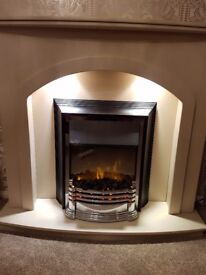 Wood stone effect fire surround