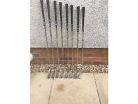 Ping golf clubs , case and trolley