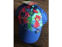 party packs of PJ Mask baseball hats