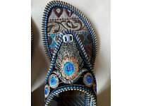 Gorgeous hand stitched flip flops
