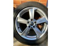 "GENUINE AUDI Q2 17"" ALLOY WHEEL 7J x 17 ET45 81A601025B with Tires."