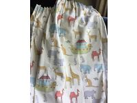Beautiful John Lewis blackout children's curtains 54 x 54cm