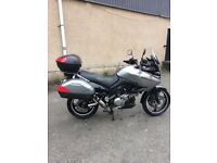 Suzuki dl vstrom 1000 gt well maintained 1 years mot heated grips alarmed all keys.