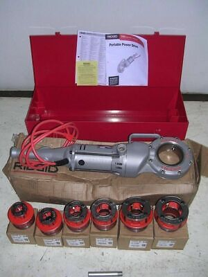 Ridgid 700 Power Pony Pipe Threader Six 12r Die Heads 12 - 2 Metal Case 45178