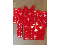 Christmas bows and ribbons