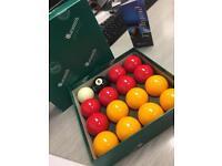 Brand new pool balls