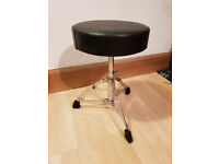 Tiger Drum Throne - Padded Black Drum Stool