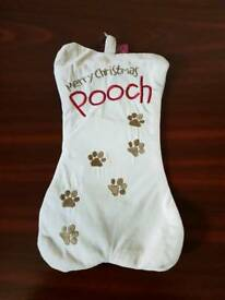 2 dog Christmas stockings. Brand new