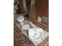 For sale bathroom sink , toilet and bath screen all in good condition......