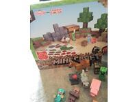 Minecraft overworld papercraft and various figures