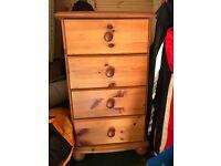 Set of 2 bedside drawers