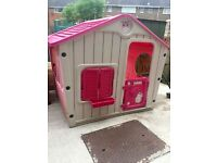 Chad valley Kids plastic playhouse Wendy house garden