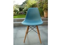 Replica Eames-style Dining/Kitchen Chair, Teal Colour