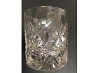 3 cut glass/crystal whiskey tumblers