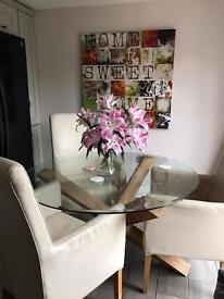 Furniture village dining table 3 chairs