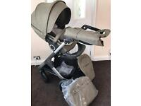 Stokke trailz with Nordic green seat & extras