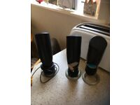 four extention speakers for home audio system in working order