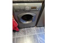 Silver Hotpoint Washing Machine 8kg, 1600 spin