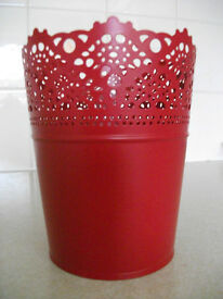 Ikea Skurar Pot(s) (Metal / Red)