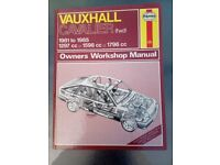Vauxhall Cavalier Haynes Owners workshop manual 1981 to 1985 1297cc 1598cc 1796cc - Pokesdown BH5
