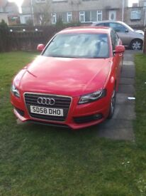 Audi A4 S line in Red. 1.8 sport