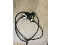 Oceanic Delta Sub Zero DX3 Alpha Octopus Analog Console pressure & depth gauge & compass reg set