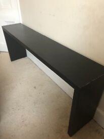 Ike dark wood side table