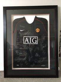 Manchester United signed Framed shirt