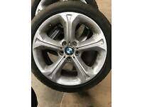 Genuine bmw wheels with runflat winter tyres