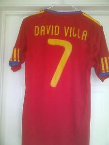 David Villa team Spain soccer jersey