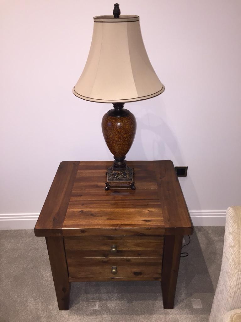 Solid Dark Wood Side Table In Chelmsford Essex Gumtree