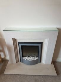 Fire place surround with marble effect